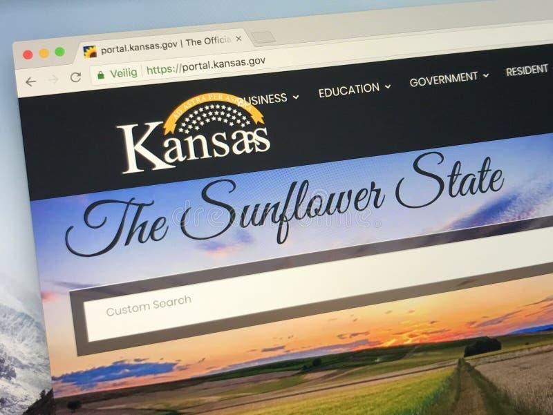 Homepage di U S Condizione di Kansas fotografie stock libere da diritti