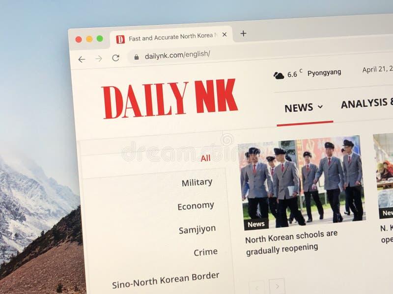 Homepage do Daily NK fotografia de stock royalty free