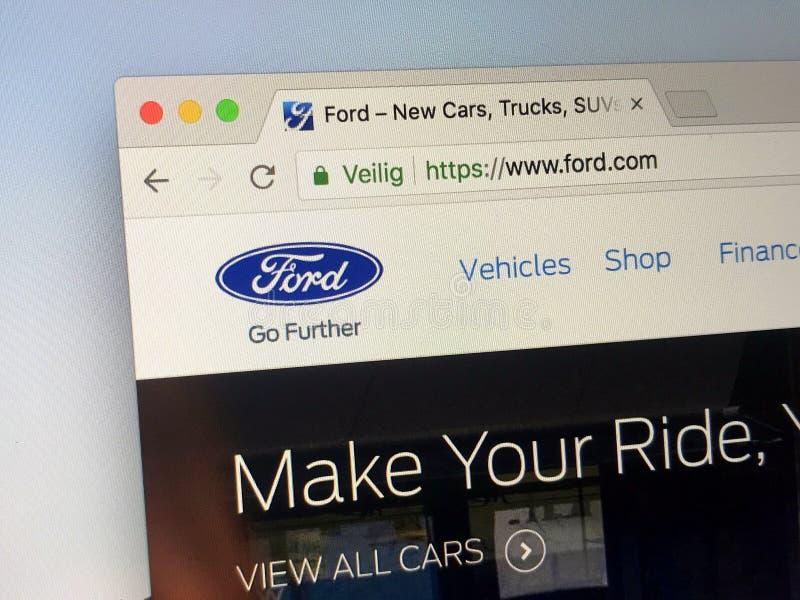 : Homepage do oficial de WWW ford COM - Ford Motor Company foto de stock royalty free
