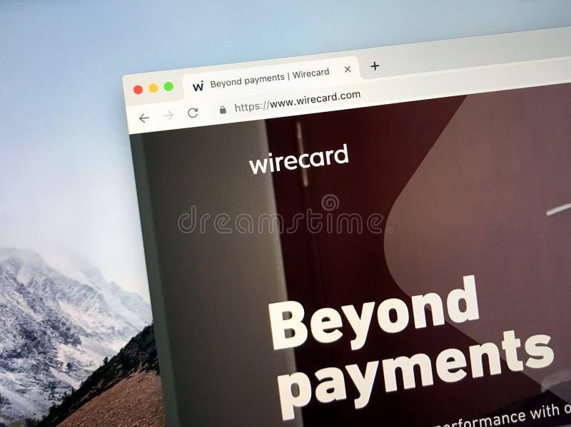 Homepage do wirecard fotografia de stock royalty free