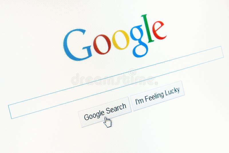 Homepage Google.com stockbilder