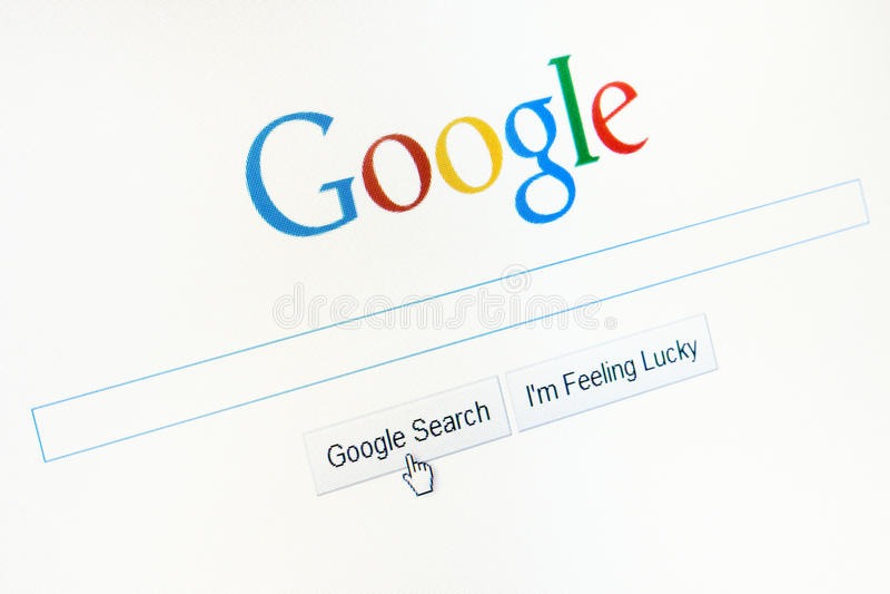 Homepage Google.com stock images