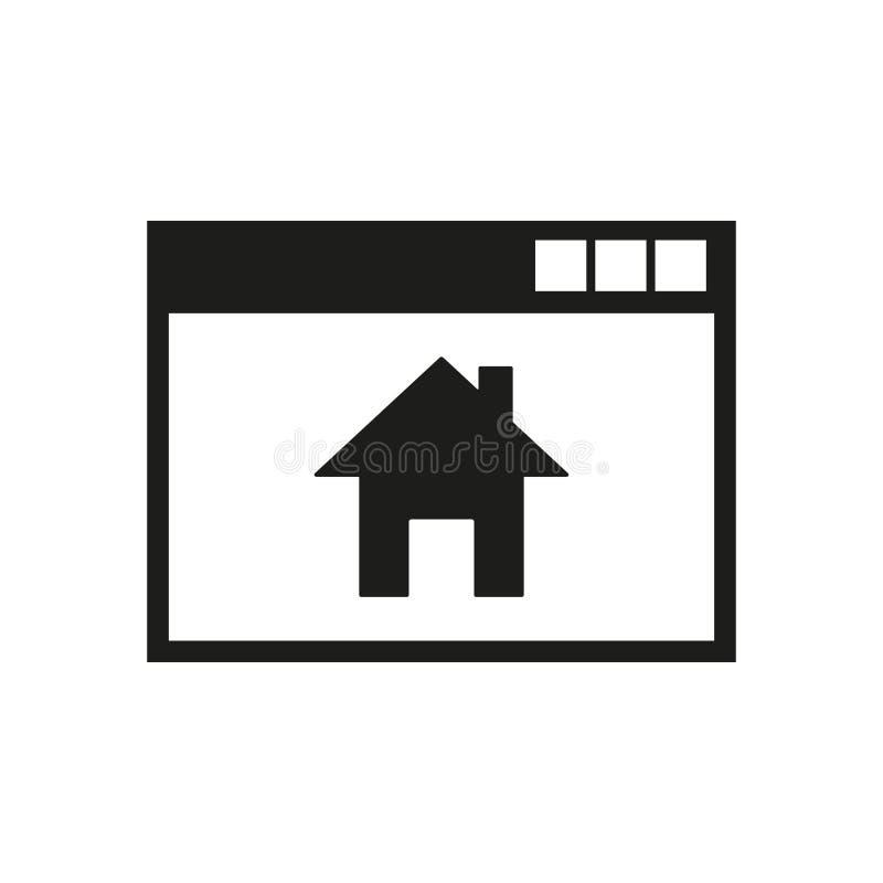 Homepage-Ikone ENV 10 Hauptsymbol web graphik jpg ai app zeichen nachricht flach bild zeichen ENV Kunst lizenzfreie abbildung