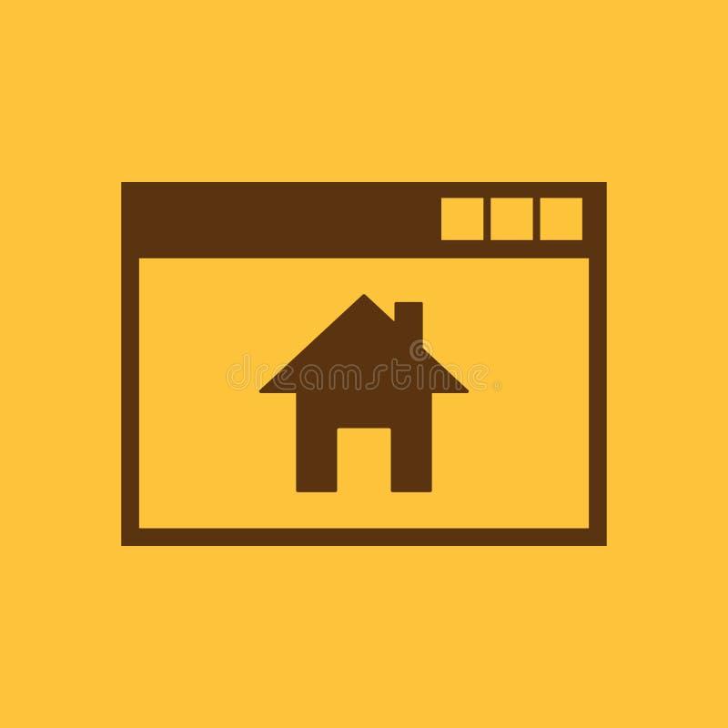 Homepage-Ikone ENV 10 Haus, homepage-Symbol web graphik jpg ai app zeichen nachricht flach bild zeichen ENV lizenzfreie abbildung