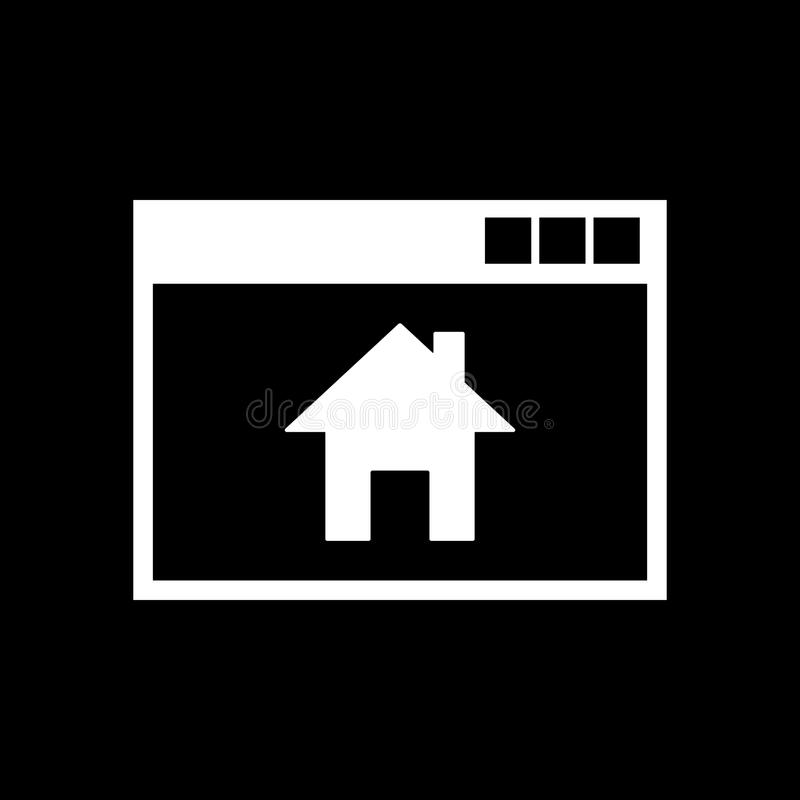 Homepage-Ikone ENV 10 Haus, homepage-Symbol web graphik jpg ai app zeichen nachricht flach bild zeichen ENV stock abbildung