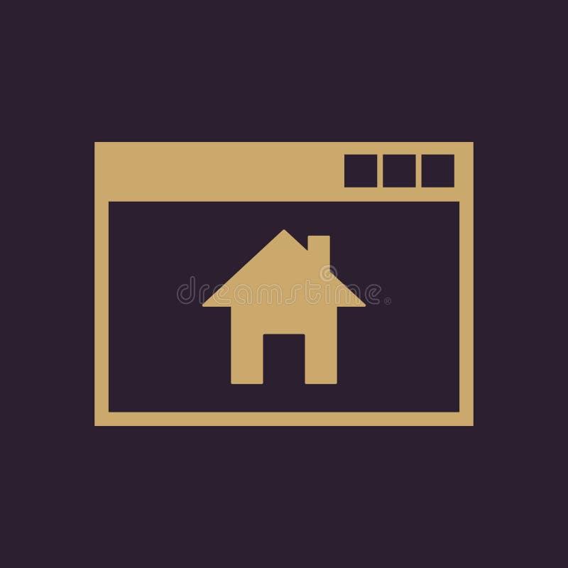 Homepage-Ikone ENV 10 Haus, homepage-Symbol web graphik jpg ai app zeichen nachricht flach bild zeichen ENV vektor abbildung