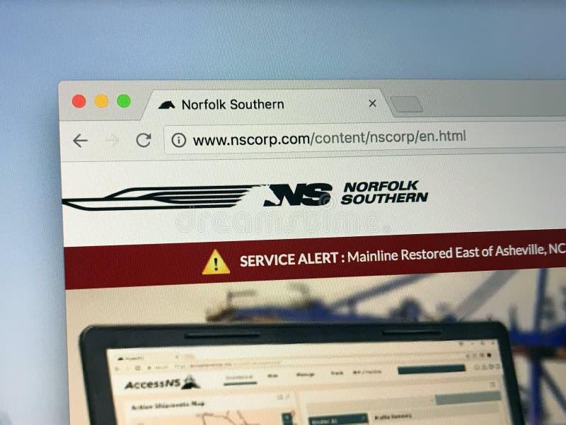 Homepage südlicher Eisenbahn Norfolks stockbild