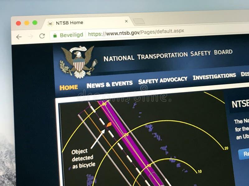 Homepage van de Nationale Raad van de Vervoersveiligheid - NTSB royalty-vrije stock foto's
