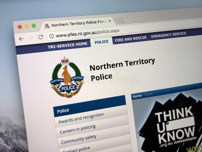 Homepage van de Noordelijke Politiemacht van het Grondgebied royalty-vrije stock afbeelding