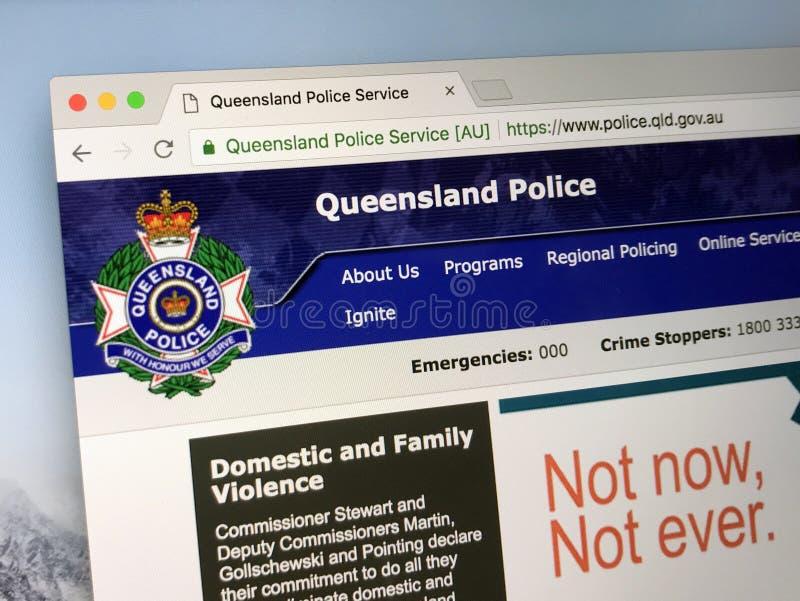 Homepage van de Politiemacht van Queensland royalty-vrije stock fotografie