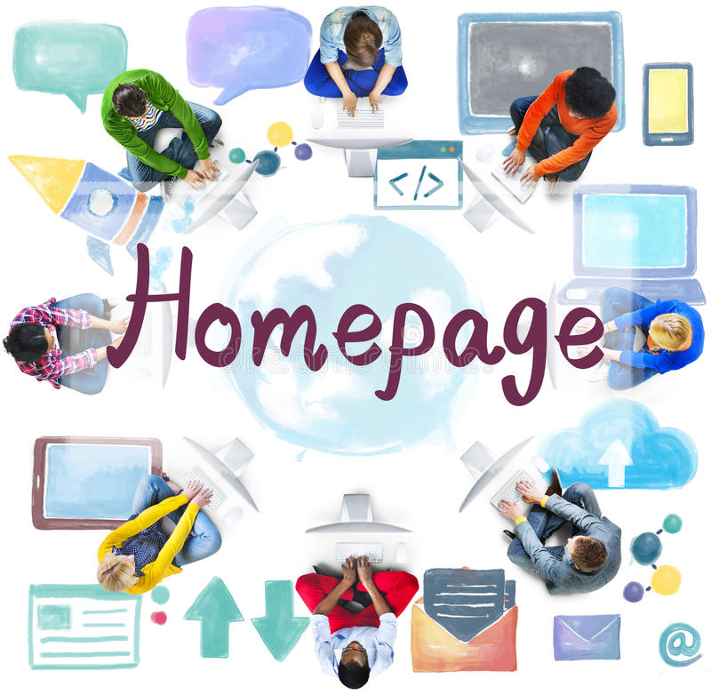Homepage Website Internet Online Technology Concept royalty free stock photo