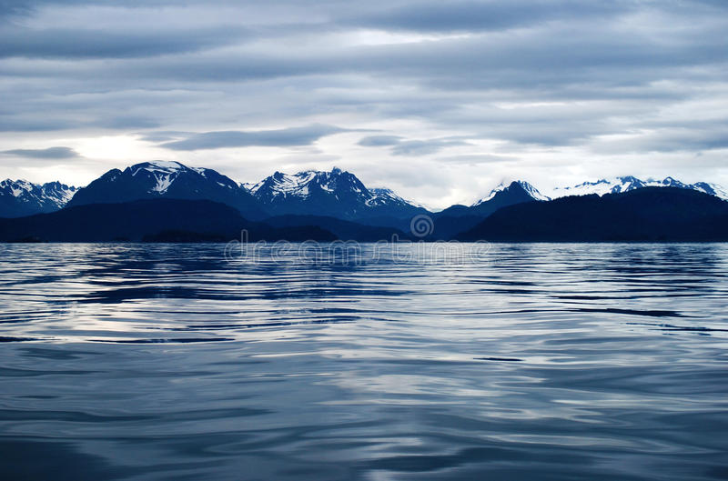 Homer Alaska. Sea and mountains near Homer, Alaska royalty free stock photography