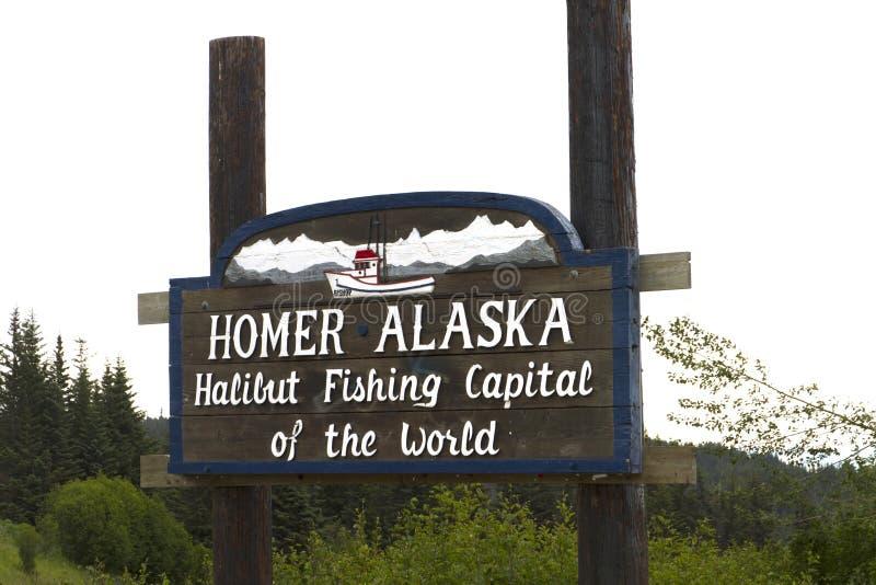 Homer Alaska. Halibut fishing capital of the world royalty free stock photography
