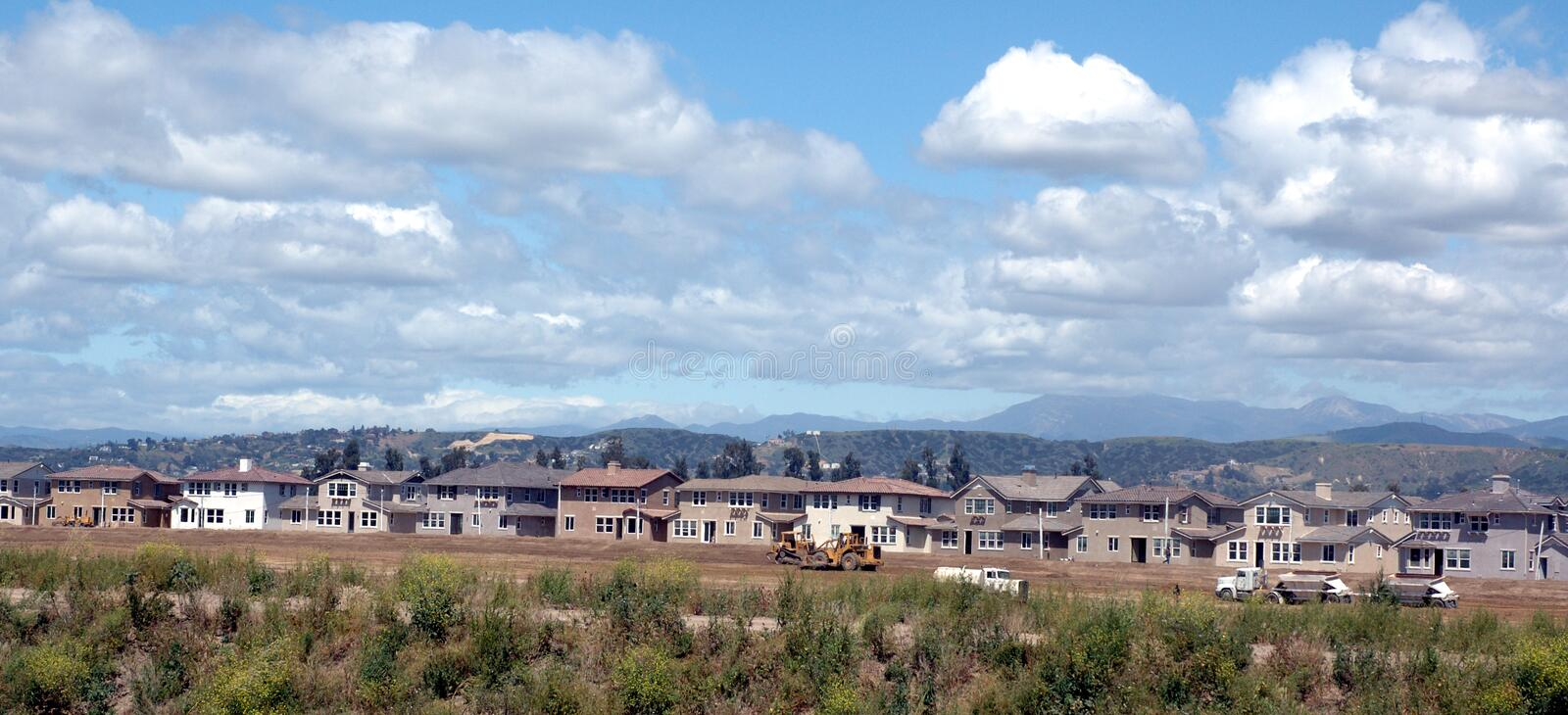 Homes Being Built Royalty Free Stock Photography