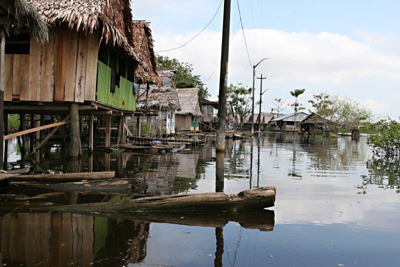 Homes in Belen - Peru stock photos