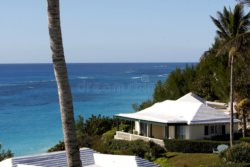 Homes in Bermuda royalty free stock image