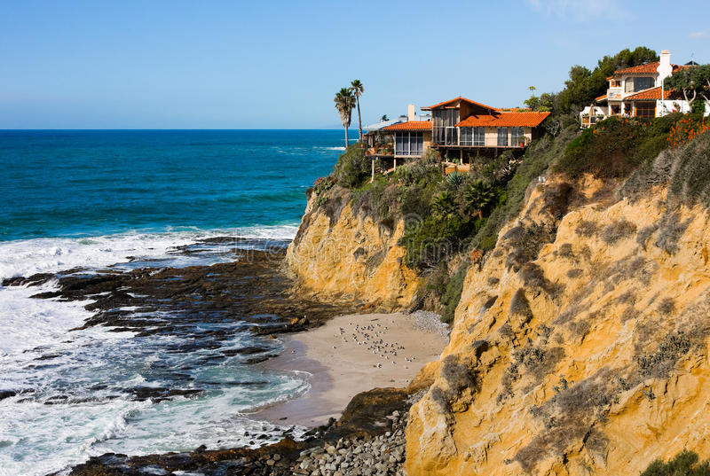 Download Homes at the cliff stock photo. Image of building, relax - 12261320