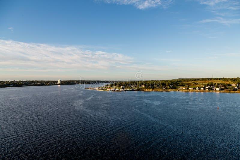 Homes on Coast of Nova Scotia stock image