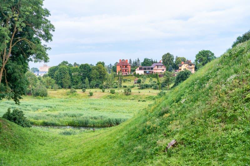 Homes and countryside in Bauska, Latvia.  royalty free stock image