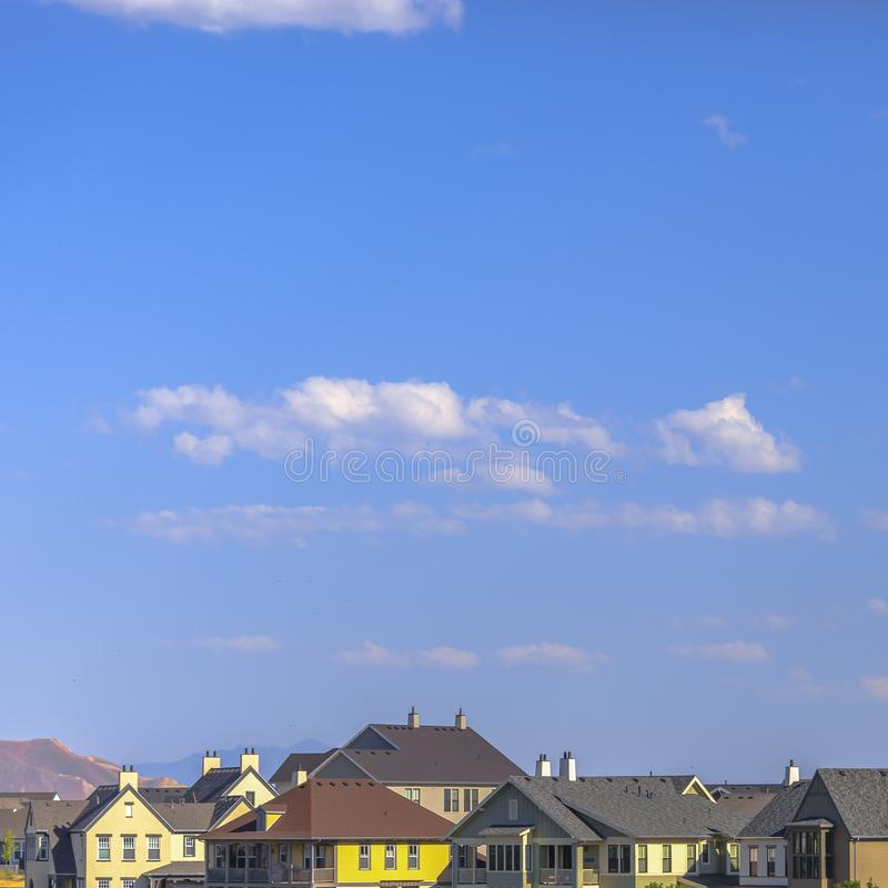 Homes in Daybreak Utah underneath a vast sky stock photos