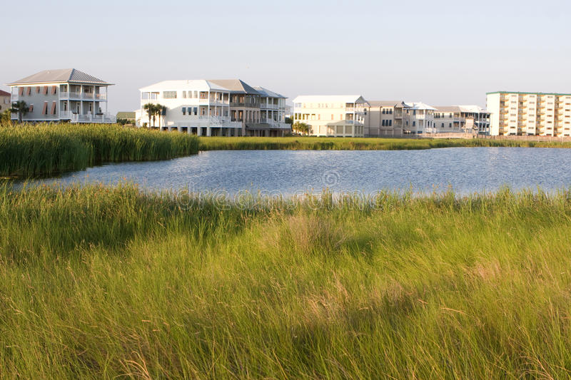 Download Homes Encroach On Wetlands Stock Images - Image: 9784224