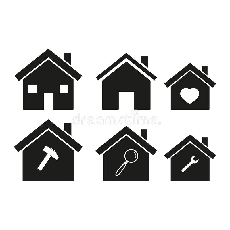 Homes icons set vector illustration