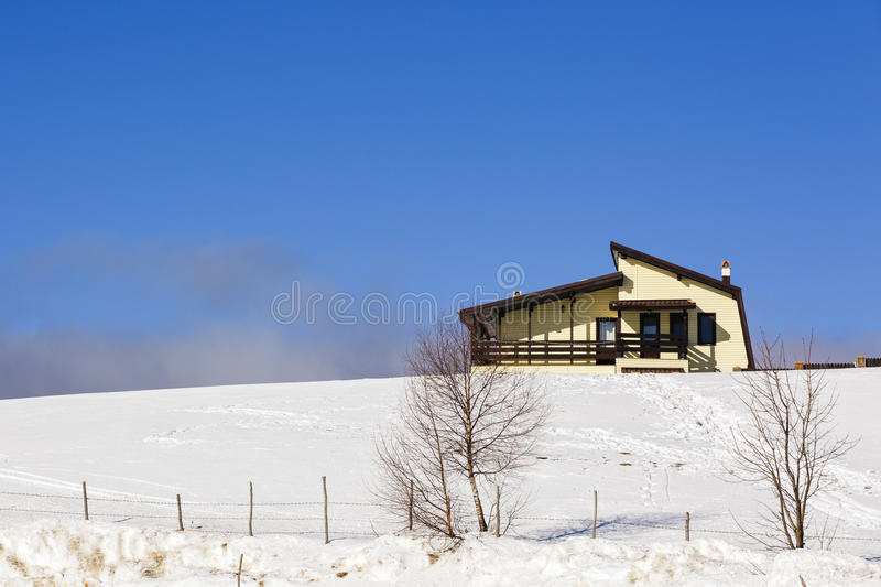 Homes in the mountains royalty free stock photo