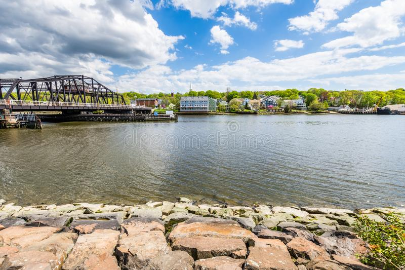 Homes in Quinnipiac River Park in New Haven Connecticut.  stock photography