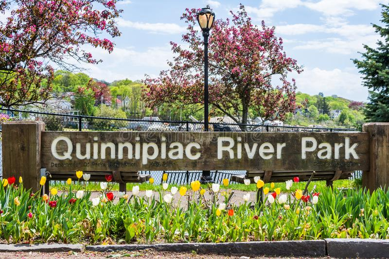 Homes in Quinnipiac River Park in New Haven Connecticut.  stock photos