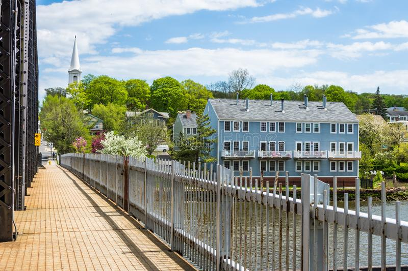 Homes in Quinnipiac River Park in New Haven Connecticut. Homes in Quinnipiac. River Park in New Haven Connecticut stock photography