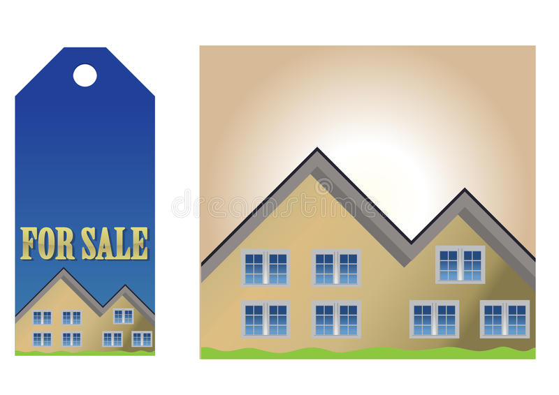 Download Homes for sale stock vector. Image of blank, mortgage - 13105790