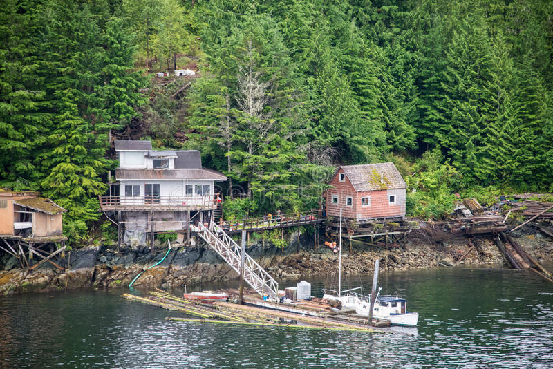 Homes on shores ketchikan alaska stock image image of for Home builders alaska