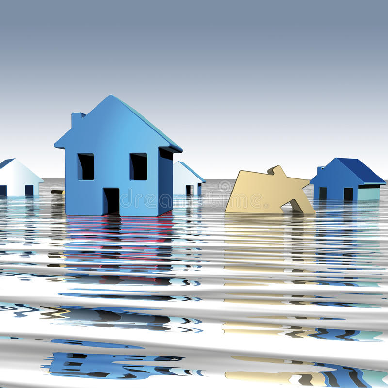 Homes water royalty free illustration