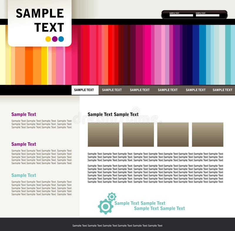 Homesite abstrato da cor ilustração stock