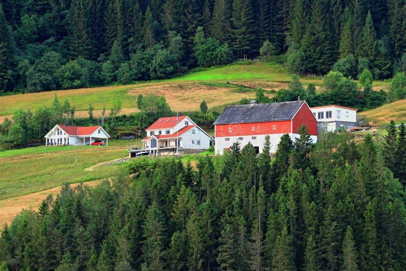 Homestead noruego fotografía de archivo libre de regalías