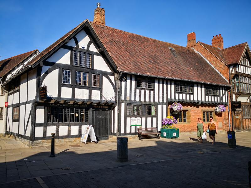 Hometown of Shakespeare stock image