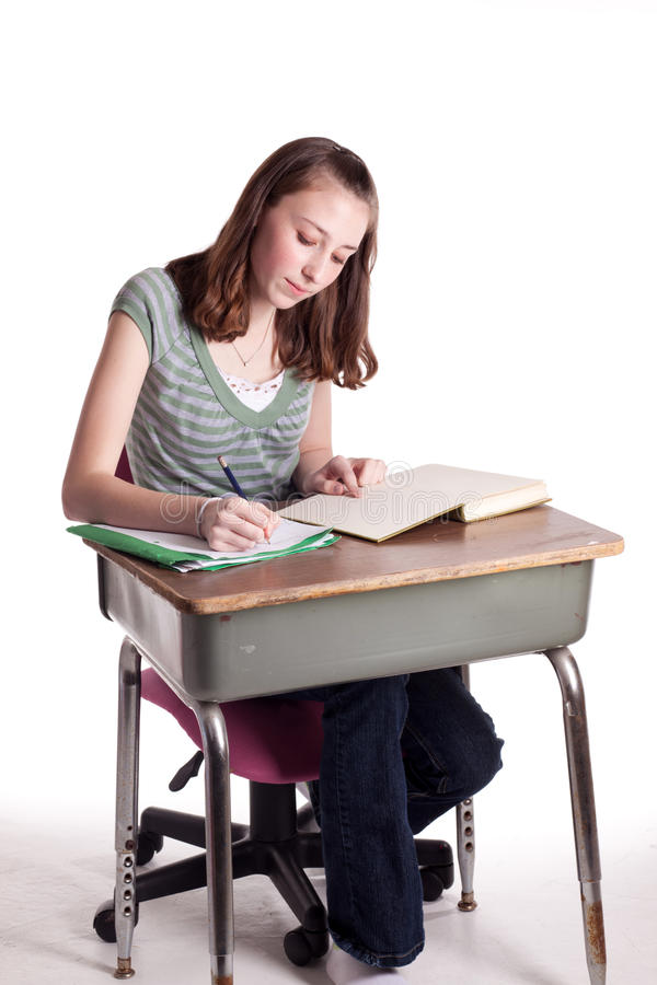 Download Homework stock photo. Image of person, isolated, teenager - 13530804