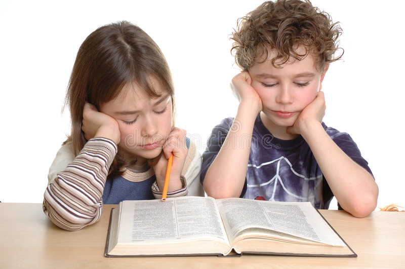 Download Homework stock image. Image of child, read, learn, parent - 1736463