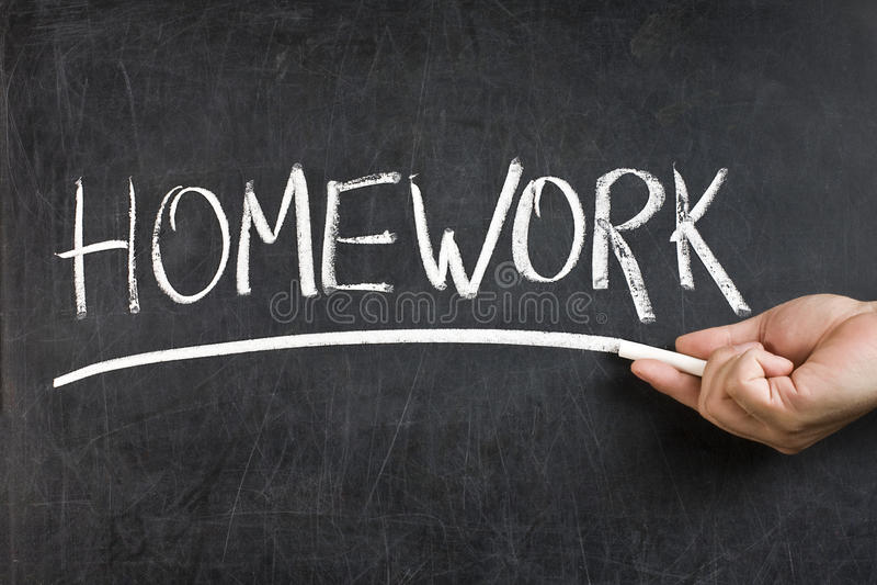 Homework Blackboard Hand Chalk stock photography