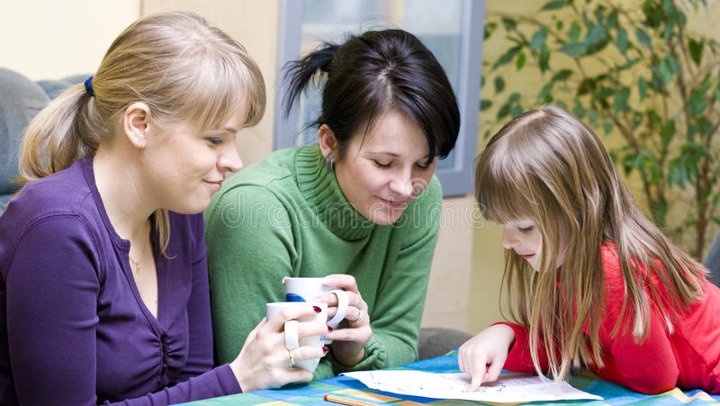 Download Homework help stock image. Image of family, guidance, girl - 9484539