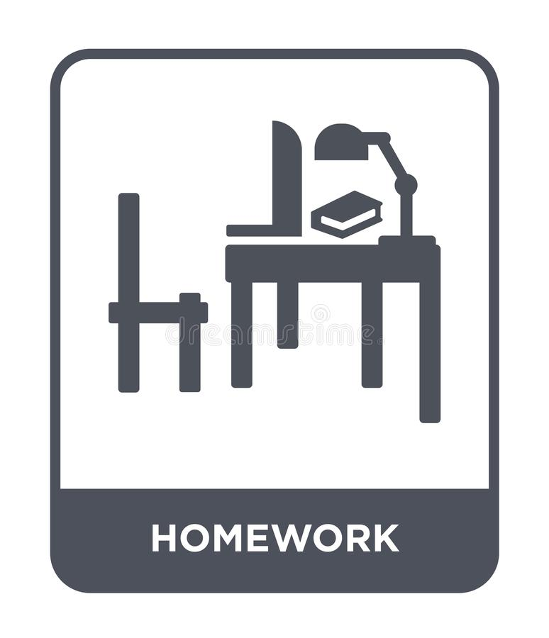 homework icon in trendy design style. homework icon isolated on white background. homework vector icon simple and modern flat stock illustration