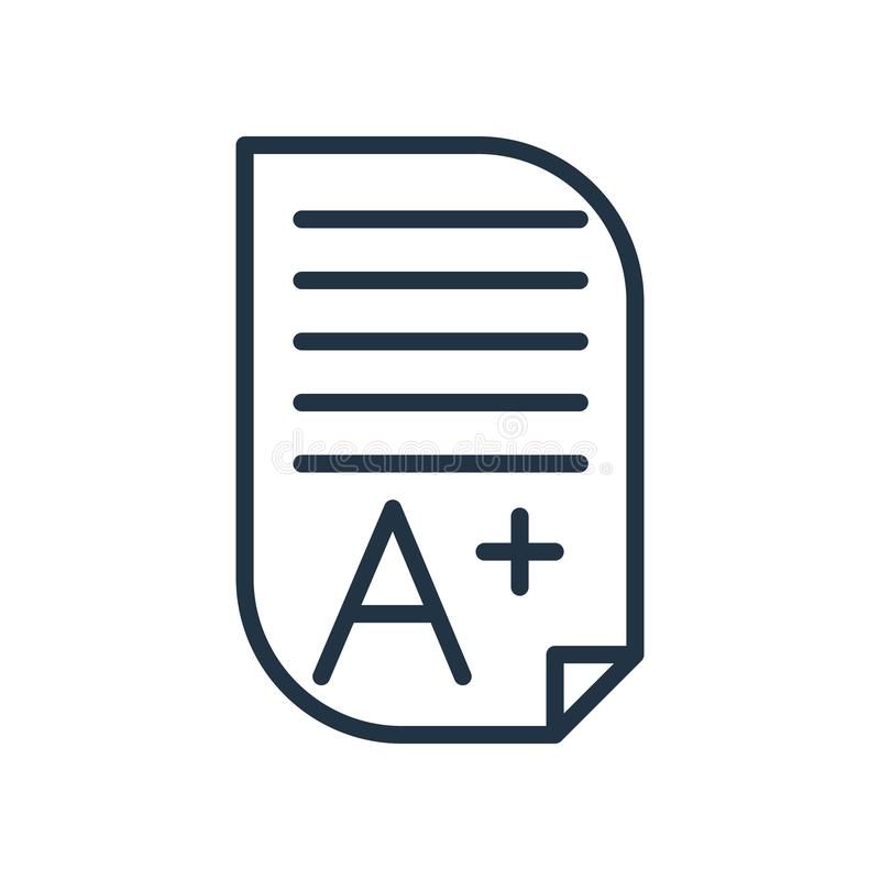 Homework icon vector isolated on white background, Homework sign royalty free illustration