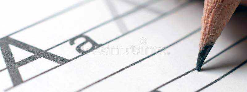 homework koncepcja uczenia się nauki alfabetu handwriting s zdjęcie royalty free