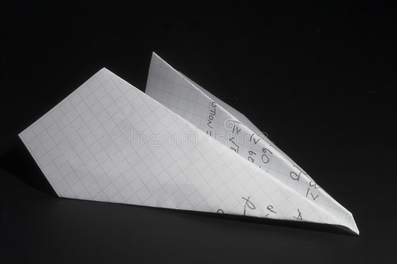 Homework Paper Airplane Royalty Free Stock Photo