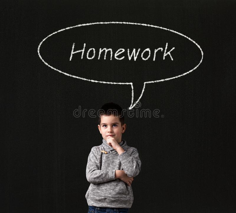 homework ilustração royalty free