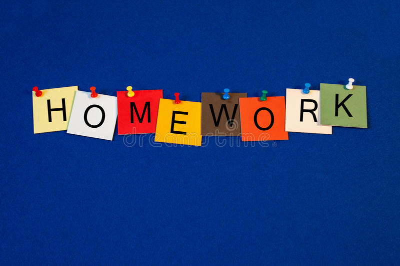 Download Homework - Sign Series For Education Terms. Stock Image - Image: 32828731
