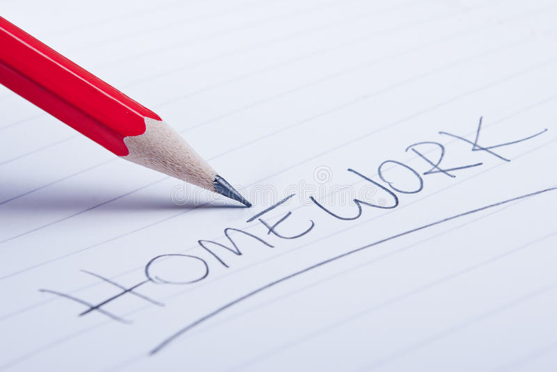 Homework royalty free stock image