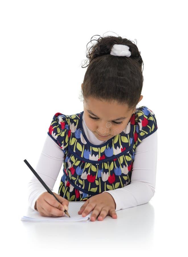 Homework Young Girl royalty free stock photos