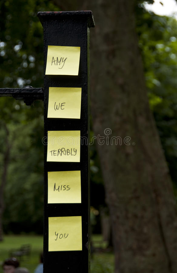 Hommage à L Ami Winehouse Image éditorial