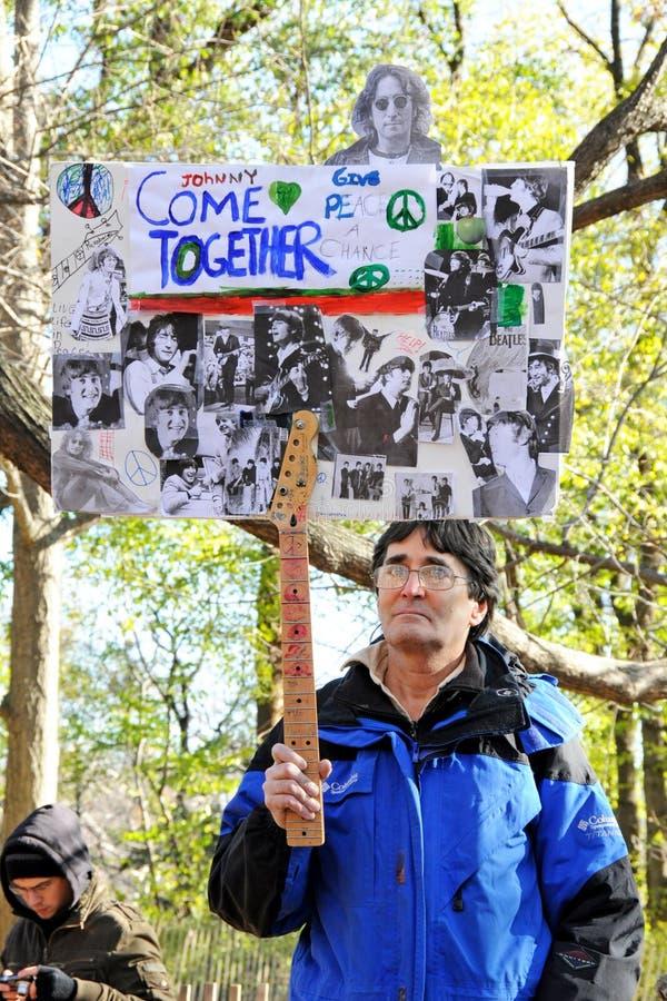 Hommage au musicien légendaire John Lennon de Beatles images stock